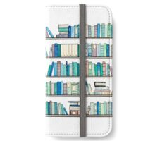Blue Library iPhone Wallet/Case/Skin