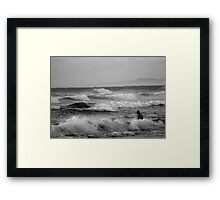 Man in the water Framed Print