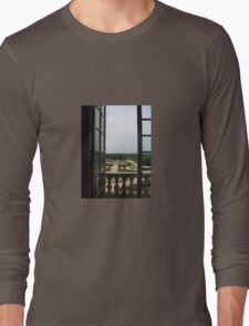 THROUGH THE WINDOW OF THE SUN KING'S PALACE VERSAILLES Long Sleeve T-Shirt