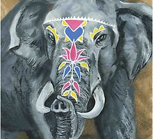 Painted Elephant - look at my trunk by KoreanRussell