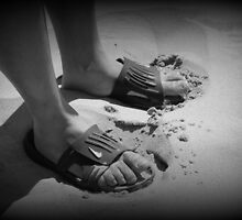 Mans feet by Valeria Lee