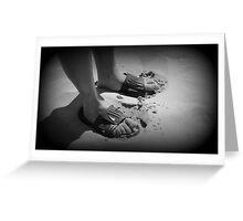 Mans feet Greeting Card