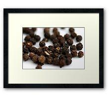 Black Pepper Framed Print