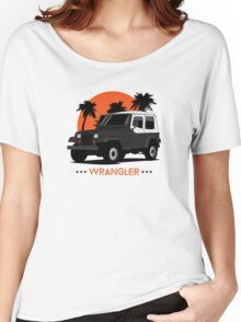 Jeep Wrangler (YJ) (black) Women's Relaxed Fit T-Shirt