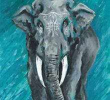 Painted Elephant - one by KoreanRussell