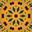 Black Eyed Susan Pillow by NewfieKeith