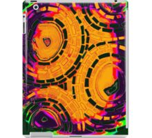 Psychedelic Orange Circle Pattern - Mosaic Art iPad Case/Skin