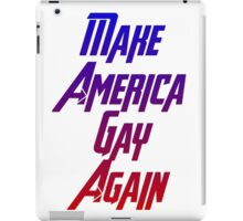 Make America gay again iPad Case/Skin