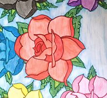 Rose Flower Phone Case Design by Samuel Telford
