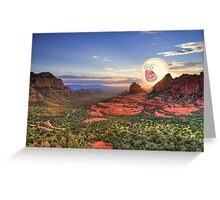 Screaming Sun Sedona. Greeting Card
