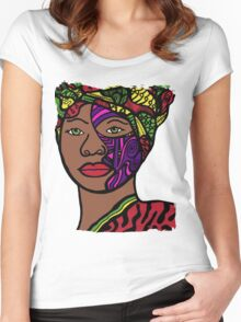 Green Eyes Women's Fitted Scoop T-Shirt