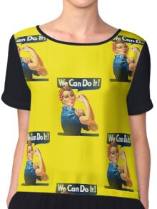 rosie the riveter Chiffon Top