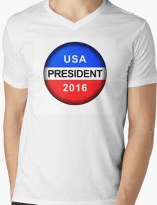 Vote Button President Mens V-Neck T-Shirt