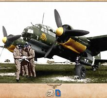 Junkers Ju 88 with Crew by A. Hermann
