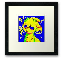tired of everything and everyone Framed Print