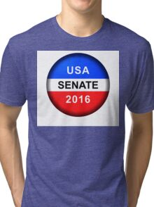 Vote Button Senate Tri-blend T-Shirt