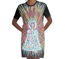 Spiritual Awakening Graphic T-Shirt Dress