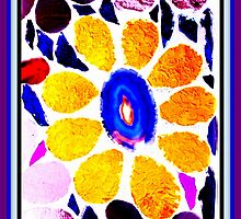 Multicolored Stained Glass Flower - Mosaic Art by WonderMeMosaics
