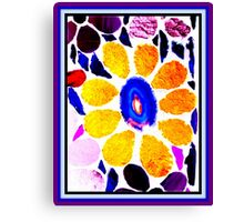 Multicolored Stained Glass Flower - Mosaic Art Canvas Print