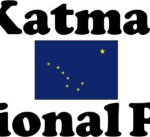 KATMAI NATIONAL PARK ALASKA MOUNTAINS HIKING CAMPING HIKE CAMP 1980 Sticker
