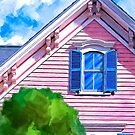Classic Painted Lady Pink Victorian Home by Mark Tisdale