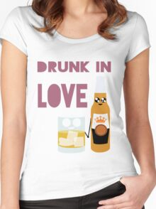 Drunk In Love ll Women's Fitted Scoop T-Shirt