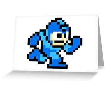 Mega Man Running Greeting Card