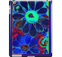 Psychedelic Blue Garden - Mosaic Art iPad Case/Skin