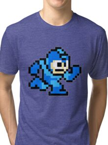 Mega Man Running Tri-blend T-Shirt