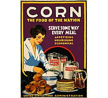 Corn, the Food of a Nation Photographic Print