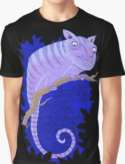 Cheshire Cat Chameleon Graphic T-Shirt