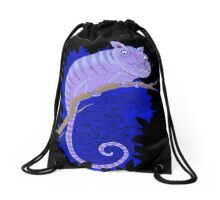 Cheshire Cat Chameleon Drawstring Bag