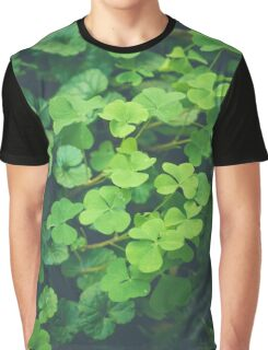 Looking Over a Four Leaf Clover Graphic T-Shirt