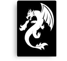 Dragon - White Canvas Print