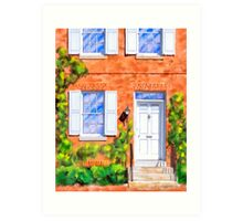 Iconic Row House Style - Terrace Home Art Print