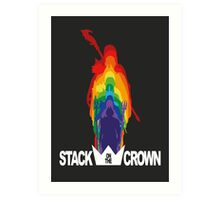 Stack On The Crown Art Print