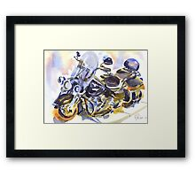 Harley in Watercolor Framed Print