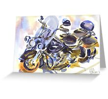 Harley in Watercolor Greeting Card