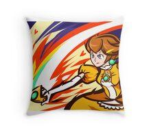 Daisy Palette Peach   Crown Slash Throw Pillow