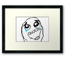 Epic Win face meme Framed Print
