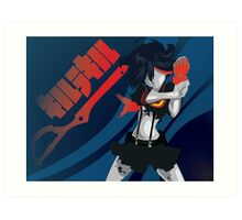 Kill la Kill Ryuko Matoi Simplist Artwork Art Print