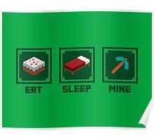 Eat, Sleep, Mine Poster