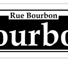 BOURBON STREET SIGN NEW ORLEANS LOUISIANA RUE BOURBON FRENCH CAJUN Sticker
