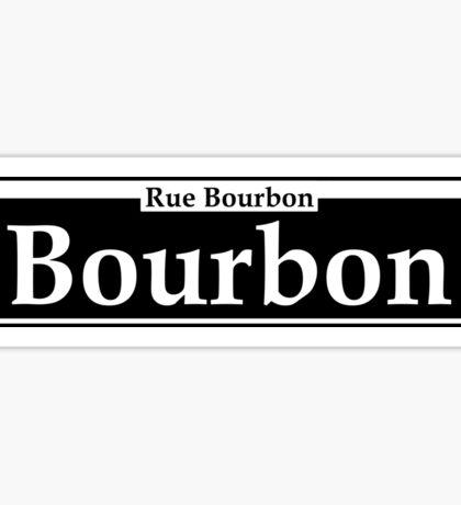 BOURBON STREET SIGN NEW ORLEANS LOUISIANA RUE BOURBON FRENCH CAJUN Sticker