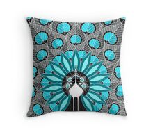 Blooming Peafowl 2 Throw Pillow