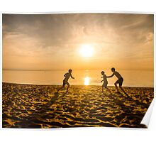 Beach Play - summer in Australia Poster
