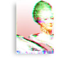Pink Marie Glitch Canvas Print