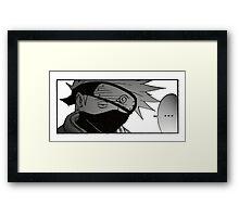 Bored Kakashi Framed Print