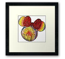 Tie Dye X Minnie Mouse Framed Print