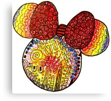 Tie Dye X Minnie Mouse Canvas Print